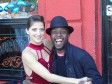 Taonga Leslie '15 with a professional dancer in Buenos Aires, generally considered the birthplace of tango