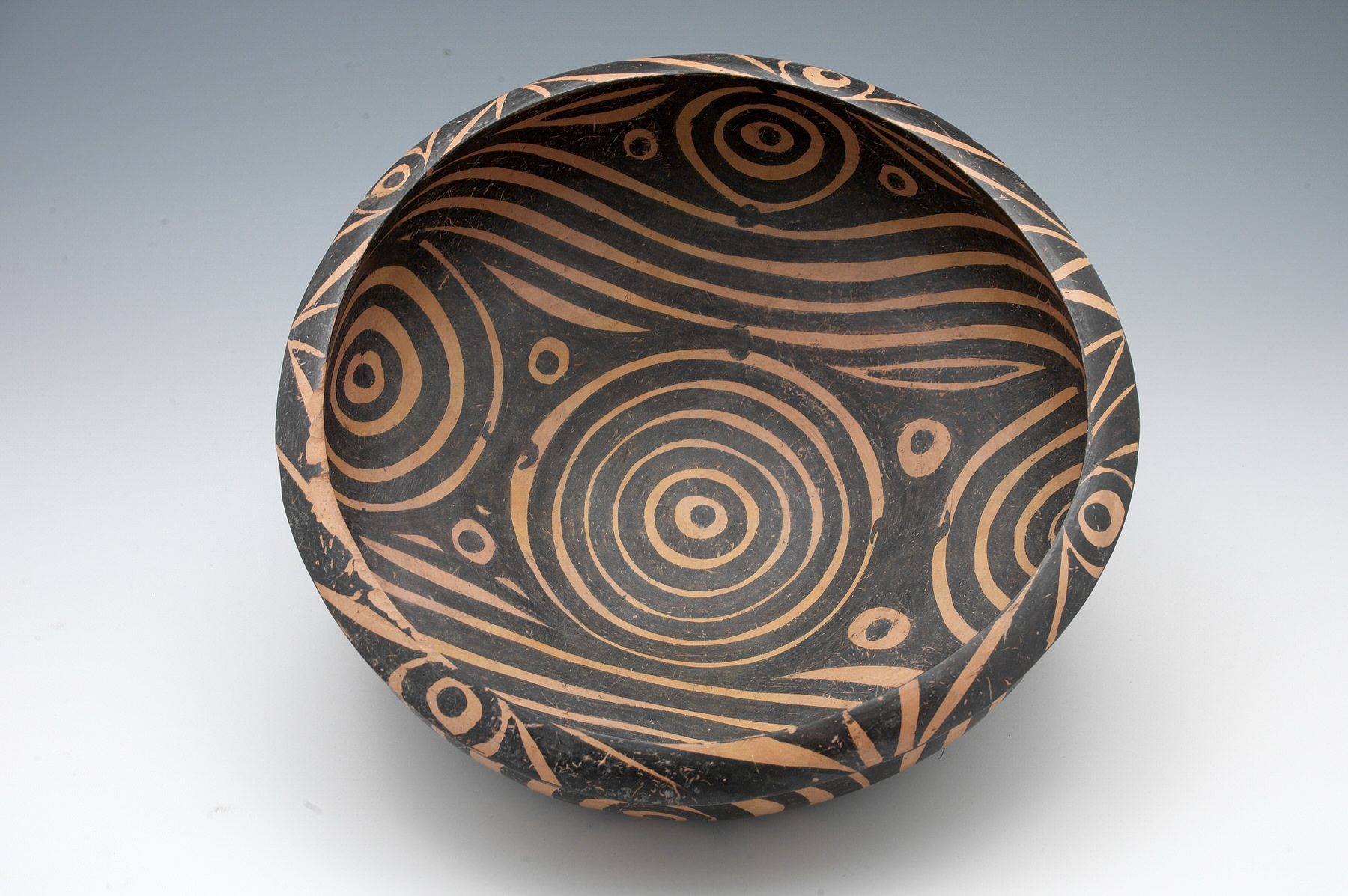 Harvard exhibition of neolithic chinese pottery harvard magazine basin with painted geometric decor and burnished surface chinese neolithic period majiayao culture majiayao phase 33002650 bce earthenware reviewsmspy