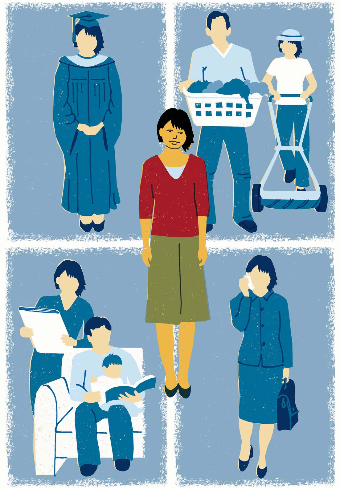 girl power harvard magazine illustration by annie bissett