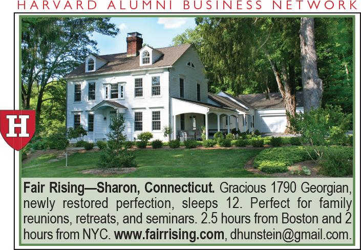 Classifieds Vacation Rentals Harvard Magazine