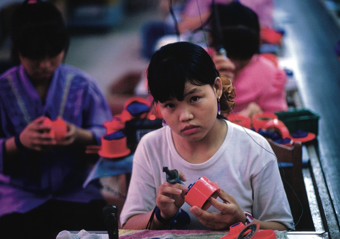 Manufacturing toys, Shenzhen. Greg Girard. Leslie T. Chang '91 Factory Girls:  From Village to City in a Changing China ...