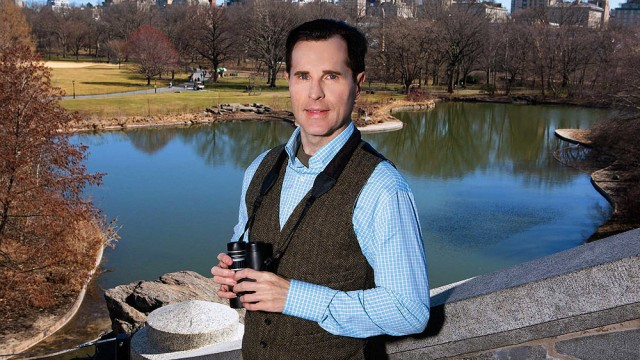 Birder David Barrett pictured at Central Park