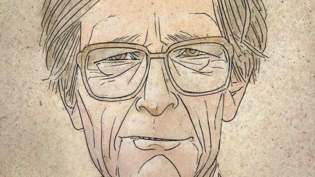 Illustrated portrait of John Rawls