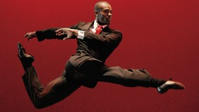 The Alvin Ailey American Dance Theater's Jamar Roberts in Judith Jamison's <i>Among Us (Private Spaces: Public Places)</i>; Jamison speaks at Radcliffe on April 27.