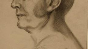 Kahlil Gibran's likeness of Harvard president Charles William Eliot, drawn in 1910