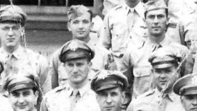 First Lieutenant Llewellyn S. Parsons, Army Air Force, center top, completed Statistical School Class 46-1 in September 1945.