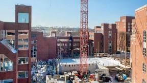 Construction work in progress at the Harvard Kennedy School