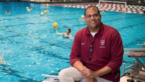 Ted Minnis is Harvard's winningest water polo coach—his path to Blodgett Pool included a few detours and sharp turns.