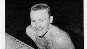 Frank Gorman as a Harvard star and competitor at theTokyo Olympics