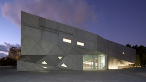 Exterior of the Herta and Paul Amir Building at the Tel Aviv Museum of Art