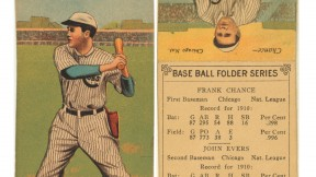 1911 Chicago Cubs player cards from the pre-Wrigley Field era, when baseball and smoking were <i>both</i> all-American