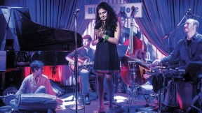 Shah recently toured with the ensemble for her debut album, <i>Visions</i>, which included piano, bass, guitar, and <i>mridangam,</i> a two-headed drum from southern India.