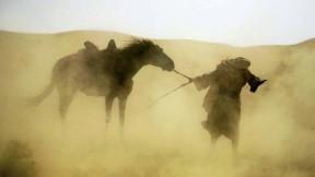 A blinding sandstorm is part of <em>Journey to Mecca.</em>