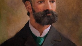 This portrait of Smith forms part of a mural, by Nelson Chase, that decorates the Aesculapian Room of the Harvard Club of Boston.