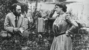Mary and Bernard Berenson in the garden of her mother's country house near Fernhurst, England, 1898