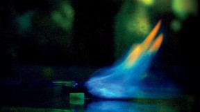 George Whitesides and colleagues have discovered that they can extinguish a flame by pushing it off its fuel source, using an electric field that emanates from the tip of a wire.
