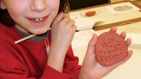 Do-it-yourself cuneiform at the Peabody Museum's Wonders of Writing family event