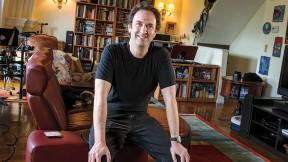 Screenwriter Danny Rubin at home