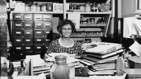 Sears in her Woods Hole office in 1960