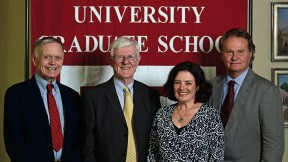 From left: Robert Richardson, Gordon Wood, Louise Ryan, and Wade Davis