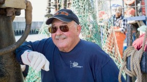 "Commercial fisherman Russell Sherman still admires the fishermen he worked for in his early days: ""Strong, and strong-willed, independent men. Most were veterans of World War II, and had been through a lot—they had tremendous work ethic. And I wanted nothing but to earn their respect."""