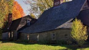 Photo of the colonial-era Fairbanks House in Dedham, Massachusetts