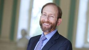 Photographic portrait of Harvard provost Alan M. Garber