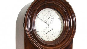 A brown grandfather clock