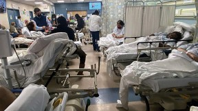 COVID-19 patients on a hospital ward