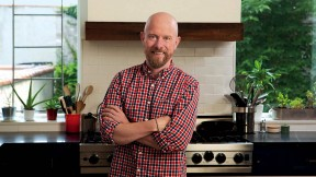 Sam Sifton in his Brooklyn kitchen