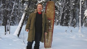 Photograph of Eric Hegsted in Yukon snow with snowshoes