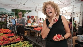 Corky White relies on her local farmers' market in Somerville, Massachusetts, for the foods she cooks, pickles, and preserves.