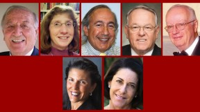 Top row from left: Zaid al-Rifa'i, Barbara Fischbein Berenson, Stephen G. Hoffman, John Paul Kennedy, and  Paul G. O'Leary. Bottom from left: Claire Stuart Roth and Jody Cukier Siegler