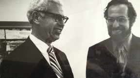U.S. Supreme Court Justice Arthur Goldberg and his law clerk, the young Alan Dershowitz, in 1963—a pivotal intersection in the history of capital punishment