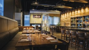 Despite its large size, Catalyst's warm, modern environs lend intimacy to dining.