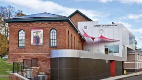 A former carpet factory (top left) was renovated to house the Museum of Russian Icons.