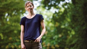 Photograph of Louisa Thomas standing outside