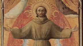 Sassetta,<i>The Ectasy of Saint Francis,</i> 1437-44, Villa I Tatti, Settignano. From <i>Blessed and Beautiful,</i> by Robert Kiely.