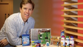 i-Lab director Gordon S. Jones with some of the products he has created or helped develop and bring to market