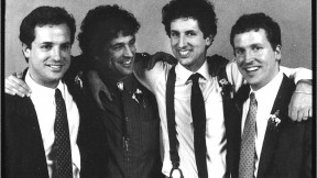 Brothers four: Ned, Harry, author George, and Mark in 1989