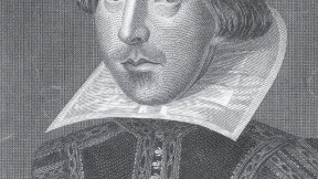 Shakespeare, as rendered in an eighteenth-century engraving