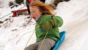 Fruitlands Museum's hills and trails are opent to hardy souls of all ages eager to bundle up and play in nature.