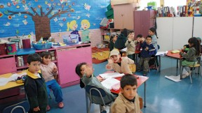"""A classroom in Peñalolén (a neighborhood of Santiago, Chile) where """"Un Buen Comienzo"""" is being implemented"""