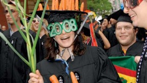 Ana Vollmar '08, of the veggie-loving Dudley House Co-op and Hamden, Connecticut.