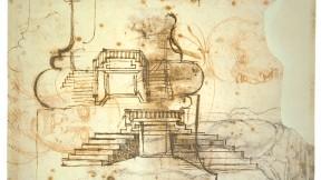 Michelangelo's studies for the vestibule stairs, Casa Buonarroti, Florence.