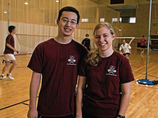 Harvard Badminton Club co-presidents Abraham Lin and Lauren Schumacher.