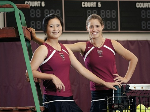 Holly Cao (left) and Samantha Rosekrans