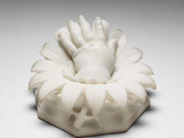 Hiram Powers, <i>Loulie's Hand,</i> 1839–77. Marble.