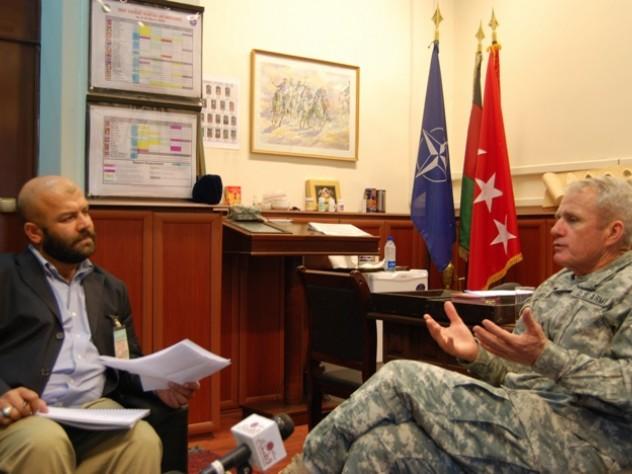 Farivar interviewing former NATO commander Dan McNeill