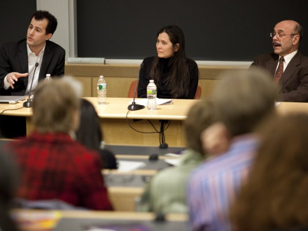 David Malan, Diane Paulus, and Christopher Winship participate in a panel discussion on engaging teaching and active learning.